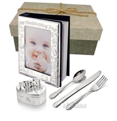 Album set mot tacamuri cutie cadou de botez