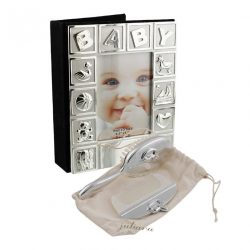 Set perie, pieptan si album foto pentru bebelusi