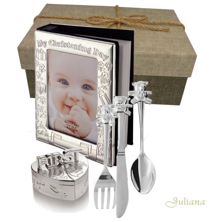 Album cutiute mot dintisor tacamuri argintate cadou de botez
