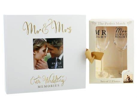 Album foto si pahare de sampanie cadou pentru miri si aniversare
