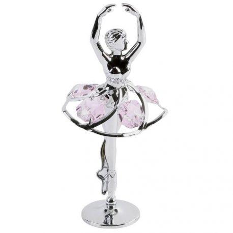 Balerina cu cristale roz Swarovski