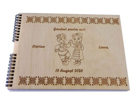 Carte de oaspeti pentru invitatii la nunta, personalizata