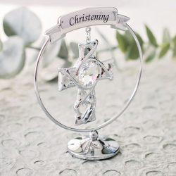 Cruciulita argintata pentru botez