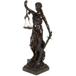 Zeita Dreptatii si Justitiei din bronz antichizat