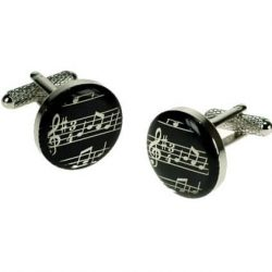 Butoni de camasa note muzicale pe portativ pentru muzicieni