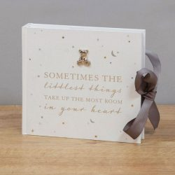 Album pentru bebelusi cu ursulet argintat ''Little Things''