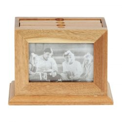 Album foto in cutie de lemn de stejar