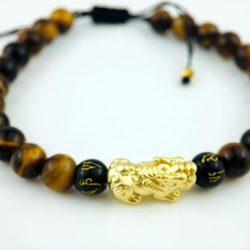 Bratara Pi Xiu si ochi de tigru - un cadou pentru barbatii pasionati