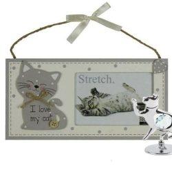 Rama foto cu pisica si ornament pisica cu cristal Swarovski