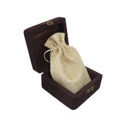Cutie de lemn cu saculet textil