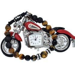 Motocicleta ceas si bratara de pietre
