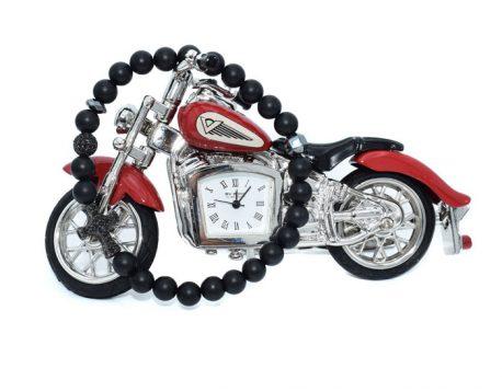 Bratara barbati si motocicleta rosie