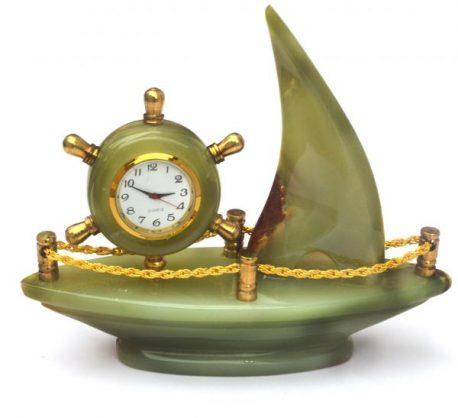 Ceas corabie de onix