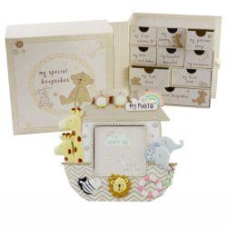 Cutie pentru amintiri si o rama foto pentru bebelusi colectia Juliana,