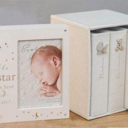 Set trei albume foto si rama muzicala pentru bebelusi