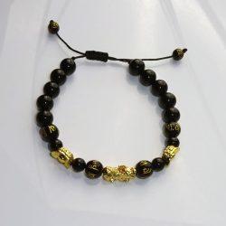 Bratara cu obsidian onix negru si Pi Yao