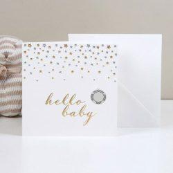 Banut de argint bebelus felicitare