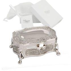Caseta argintata pentru bijuterii Sophia