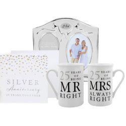 Cadou de aniversare cani rama si felicitare nunta de argint