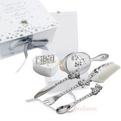 Cadou set argintat in caseta eleganta