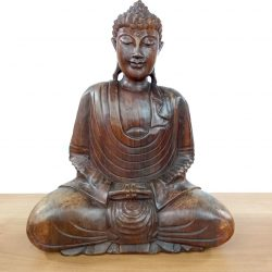 Statueta de Lemn Masiv Buddha